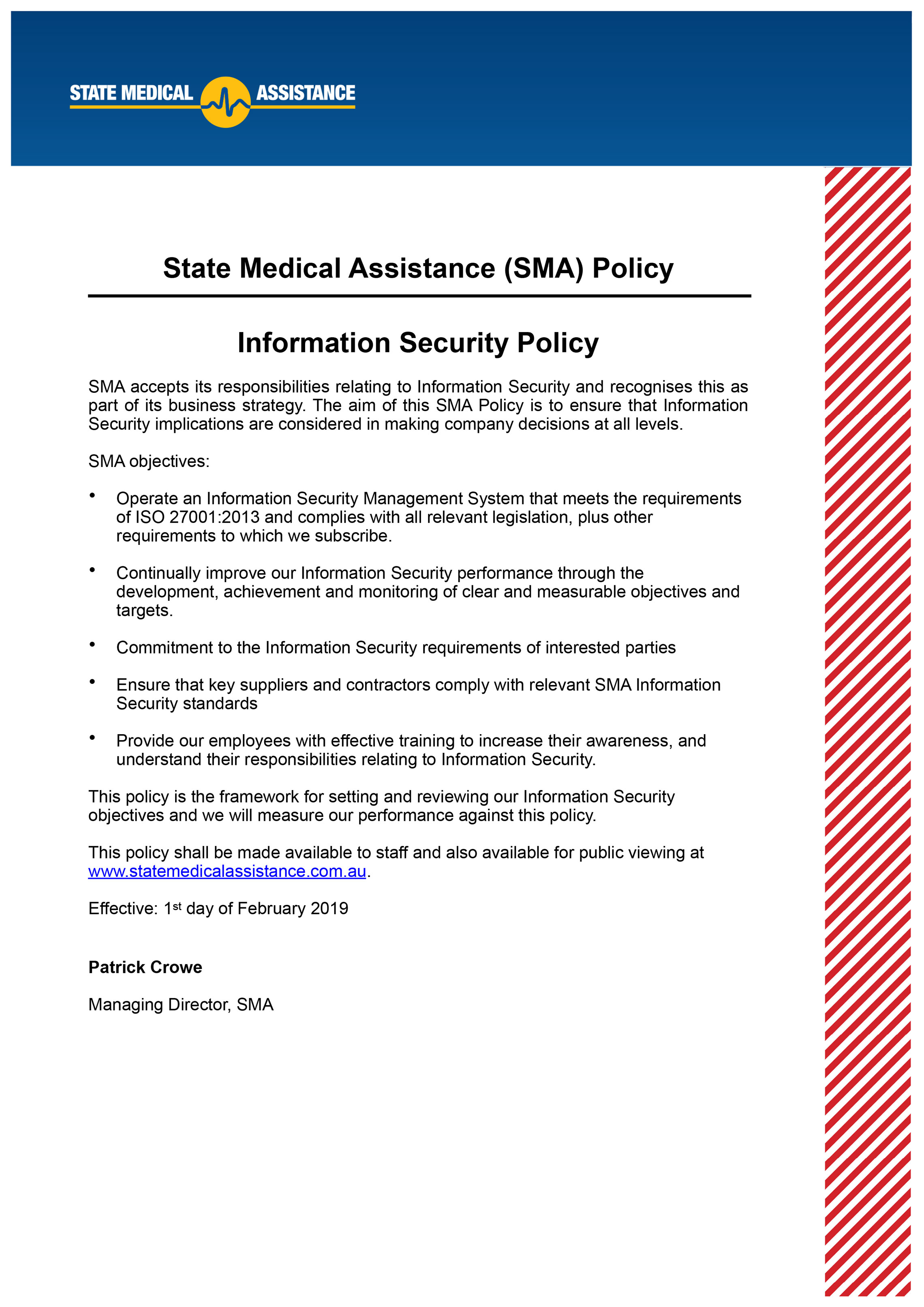 SMA Information Security Policy